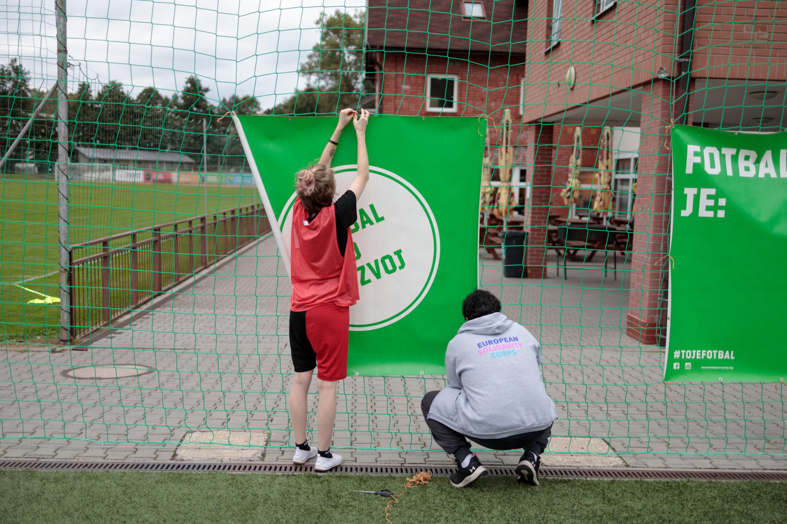 Preparations before start of the tournament, Férák pod Ještědem, Český Dub, Czech Republic