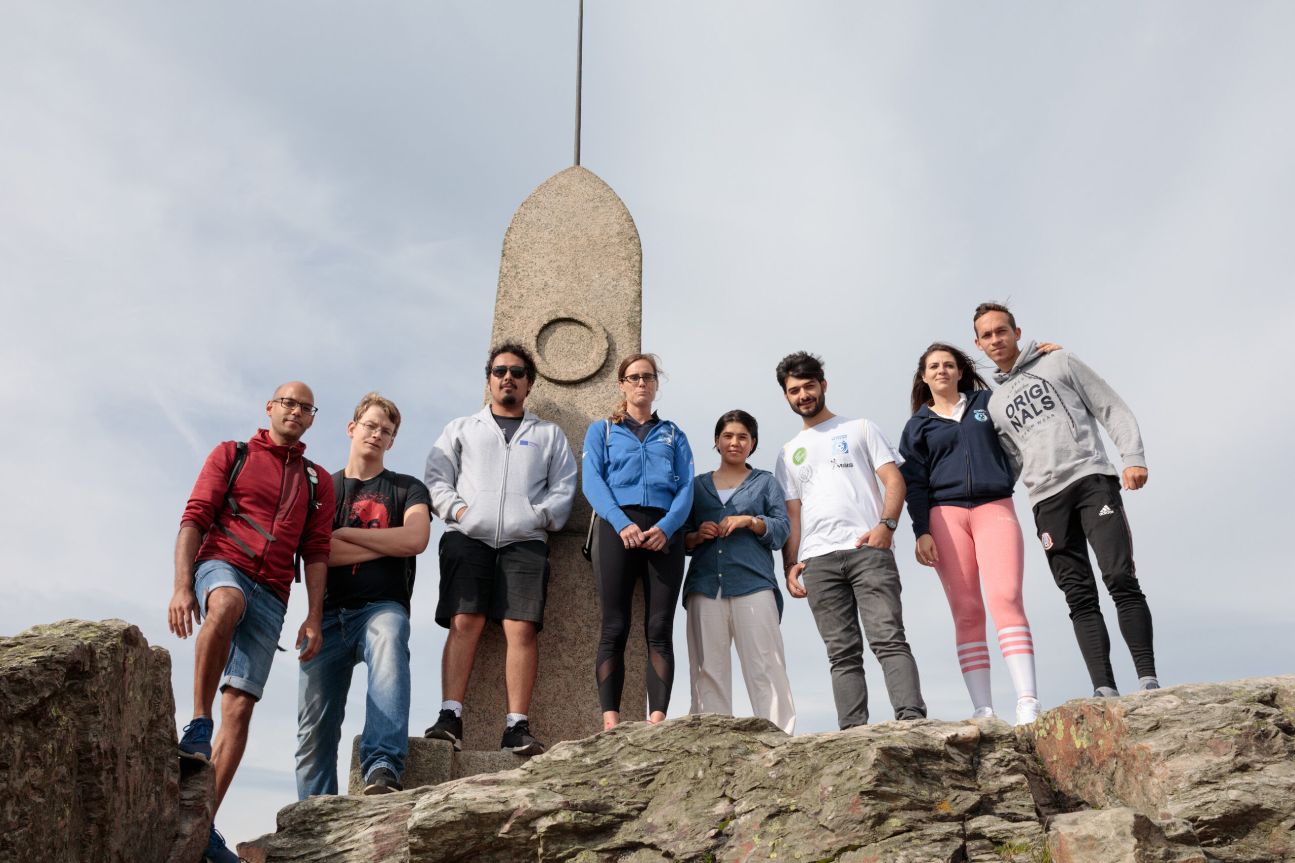 Youth leaders on the trip, Ještěd mountain, Czech Republic