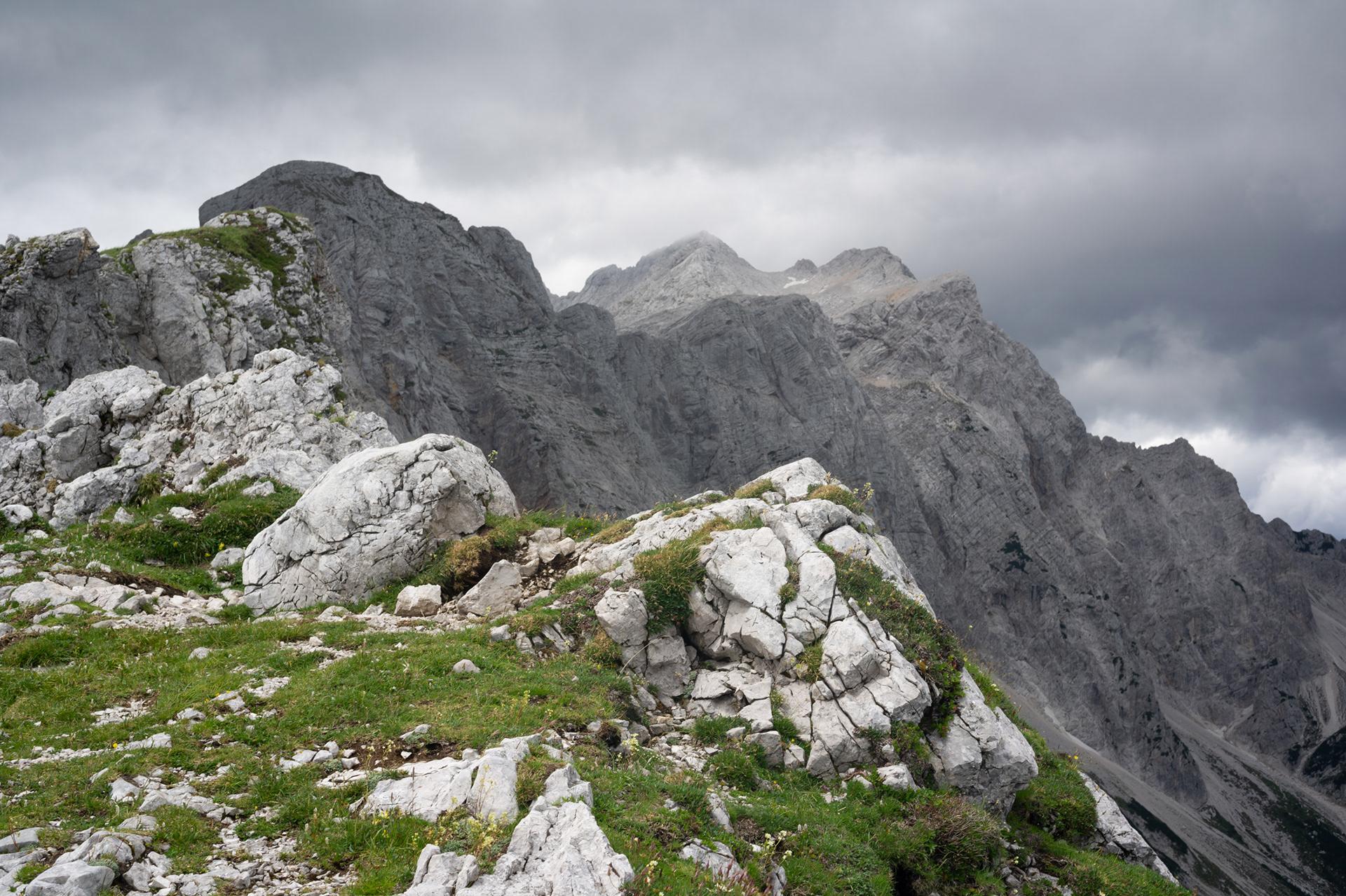 Landscape photography of mountains, Kamnik Saddle, Karavanks, Slovenia