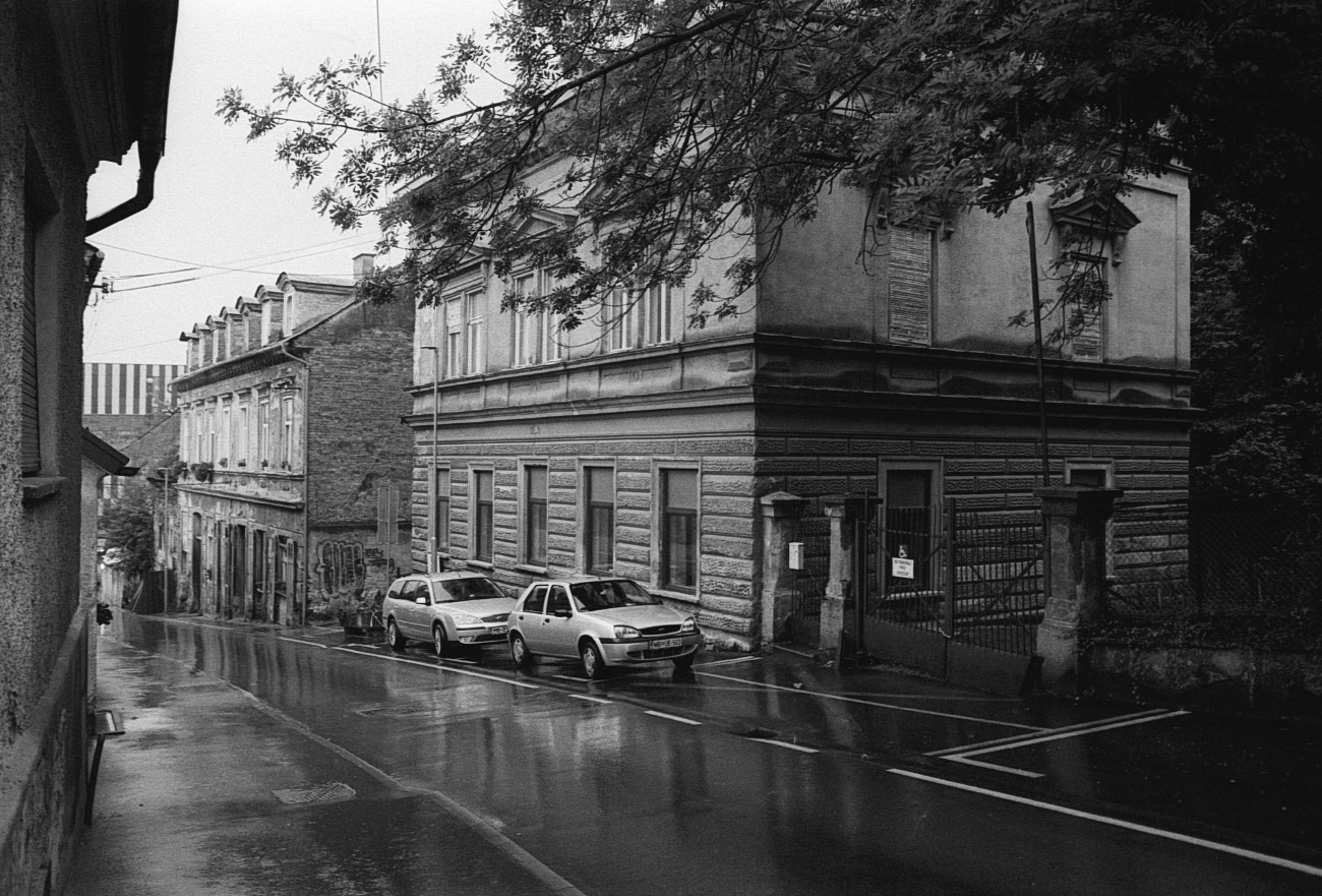 Cars on city and town street, Maribor, Slovenia