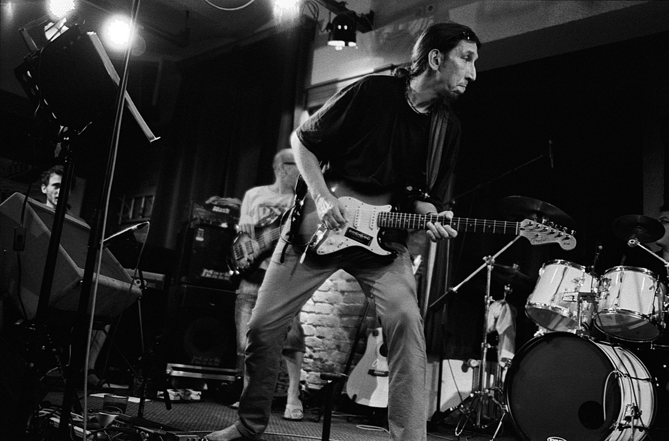 Concert photograph of musicians on the stage, Martin Rek, Bandaband, Klub Parník, Ostrava, Czech Republic