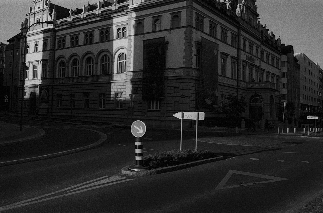 City and town street, The house of Nation, Maribor, Slovenia