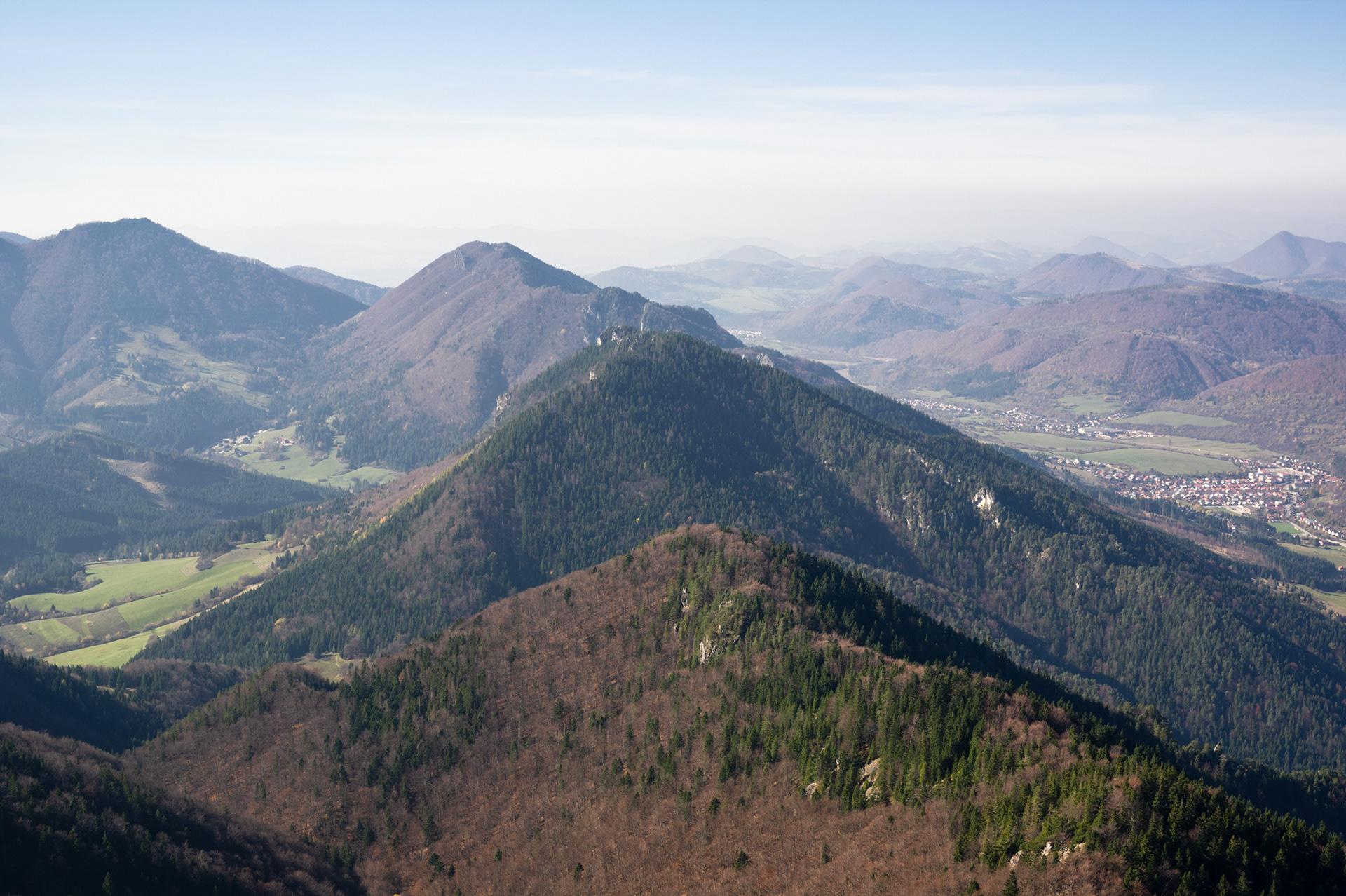 Landscape photograph, view from Malý Rozsutec, Malá Fatra, Slovakia